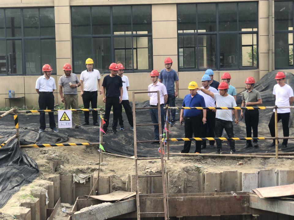 区域供水三期工程项目8月份安全生产大检查暨工程例会召开